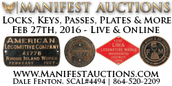 Manifest Auctions Railroad Signs