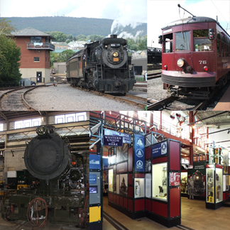 Steamtown Electric city trolley museum scranton